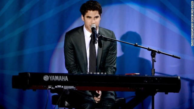 Darren Criss performs during the 24th Annual GLAAD Media Awards on April 20, 2013 in Los Angeles, California.