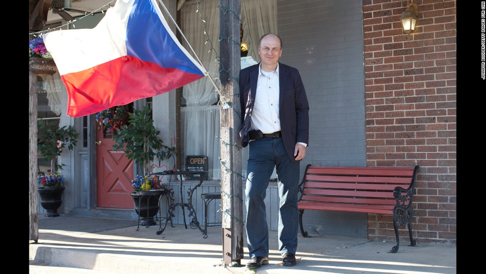 Petr Gandalovic, the Czech Republic ambassador to the United States, came to West to offer  condolences on behalf of his country. He says the town's disaster is the No.1 news story there.