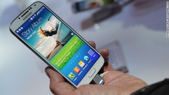 The new phone is expected to look different from Samsung's popular Galaxy S4, shown here.