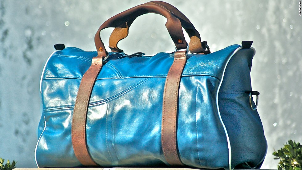 Tierra Ideas crafts luggage, lap top cases and wallets from Delta Airlines' old seat covers.