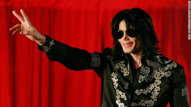 Pop star Michael Jackson addresses a press conference in London on March 5, 2009.