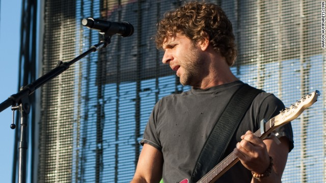 Billy Currington and his band perform at the 2010 Stagecoach Country Music Festival in Indio, California.