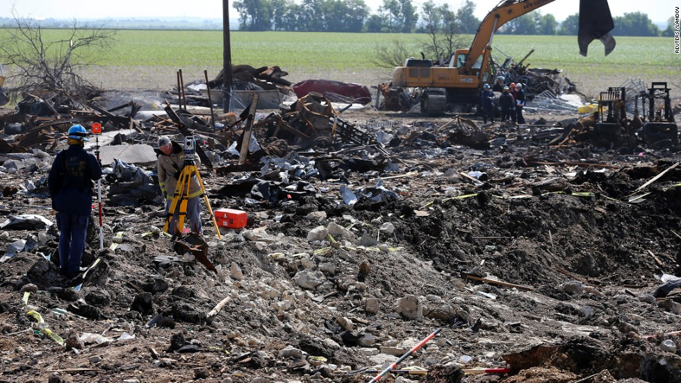 "<strong>West, Texas, fertilizer plant explosion: </strong>35 people died in <a href=""http://www.cnn.com/2013/04/18/us/texas-explosion"" target=""_blank"">a massive explosion at a fertilizer plant in West, Texas</a>, on April 17. Included among the dead were 10 first responders who were trying to put out a fire at the plant before the explosion."