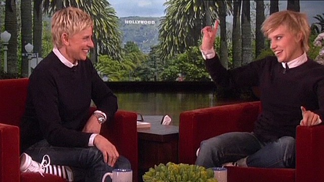 'SNL' actress meets Ellen, as Ellen