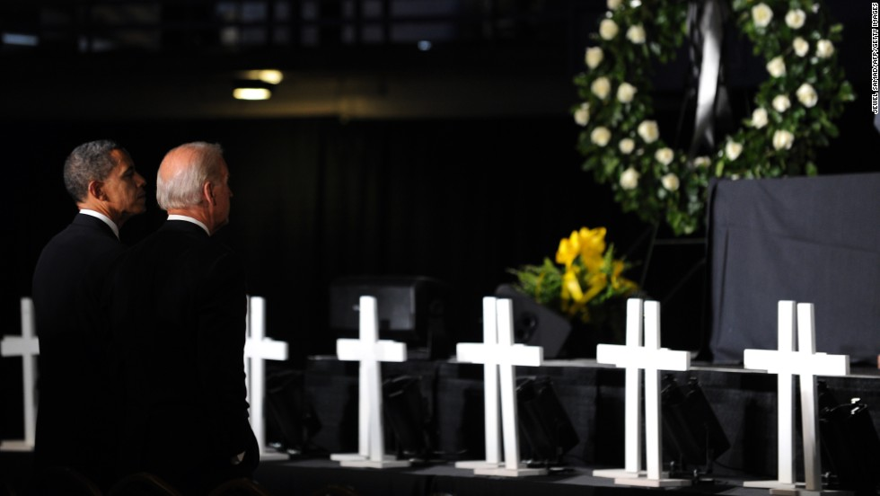 """An explosion at the Upper Big Branch Mine in West Virginia killed 29 workers in April 2010. It was the worst U.S. mine disaster in 40 years. """"All the hard work; all the hardship; all the time spent underground; it was all for their families. ... It was all in the hopes of something better,"""" Obama said about the fallen workers."""