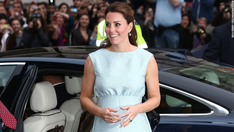 Catherine, Duchess of Cambridge, attends a reception in London.