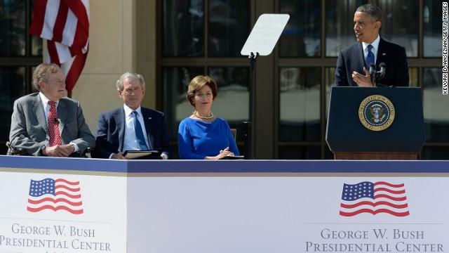 President Barack Obama speaks during the opening ceremony of the Center.