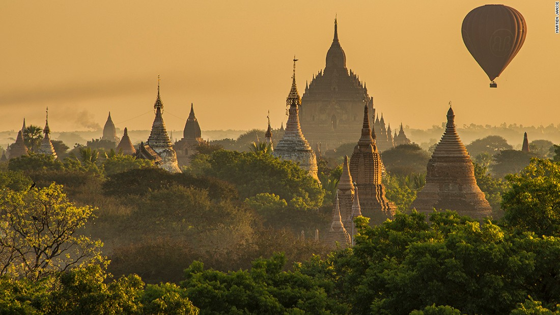 <strong>Bagan, Myanmar: </strong>Long hidden from international view by Myanmar's military government, the treasures of Bagan -- an 11th-century complex of more than 2,000 Buddhist temples -- is built along the Irrawaddy River.