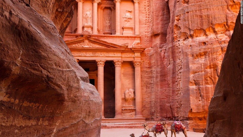 Between the Dead Sea and the Red Sea, Petra was the capital of the Nabataean caravanning kingdom from around the 6th century BC. Abandoned in the 2nd century AD after an earthquake, the desert city carved from rose-red limestone is one of the world's most important archaeological sites.