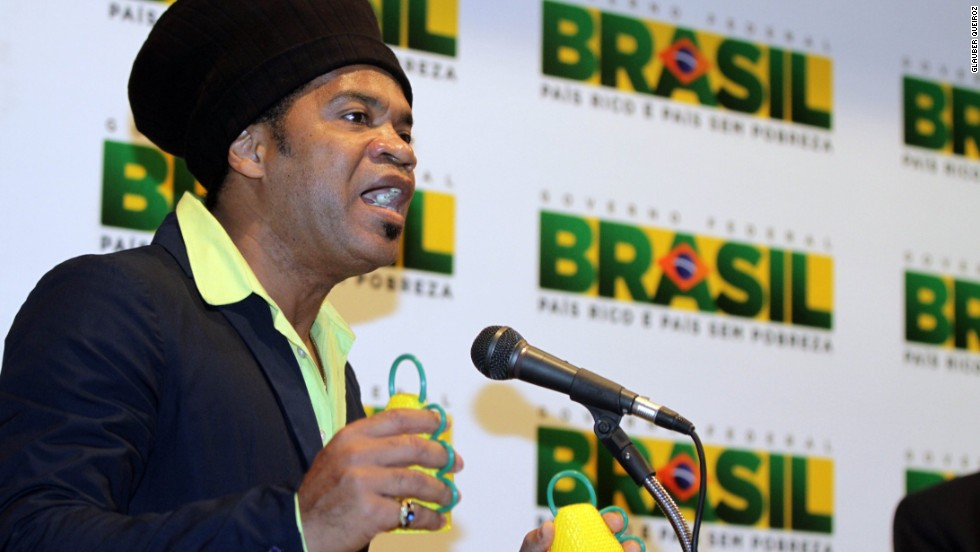 Designed by Brazilian composer Carlinhos Brown the caxirola make a sound similar to maracas or rainsticks.