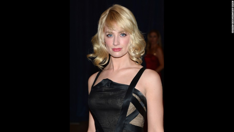 "Actress  Actress Beth Behrs, from the telvision series ""2 Broke Girls,"" arrives on the red carpet."