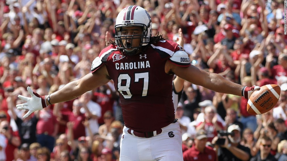"""Justice Cunningham, a tight end from South Carolina, was the final pick of the 2013 NFL Draft, earning him the title of """"Mr. Irrelevant."""""""