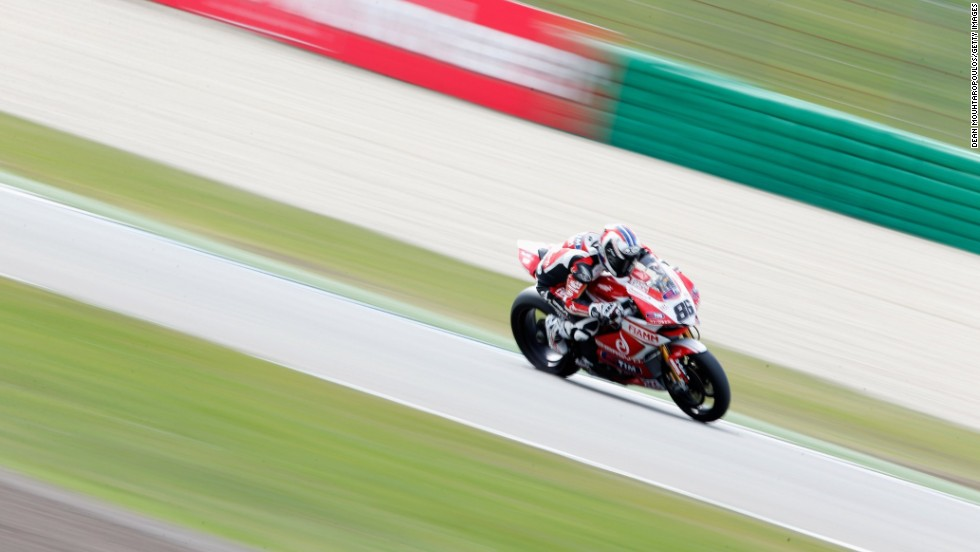 Ayrton Badovini of Italy competes for Team Ducati Alstare during the World Superbikes Qualifying Session on April 27, 2013 in Assen, Netherlands.
