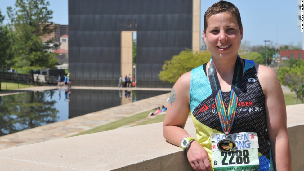 Sara Hunt's Boston Marathon was cut short near the 26-mile mark when two bombs went off. She came to Oklahoma City to finish what she started.