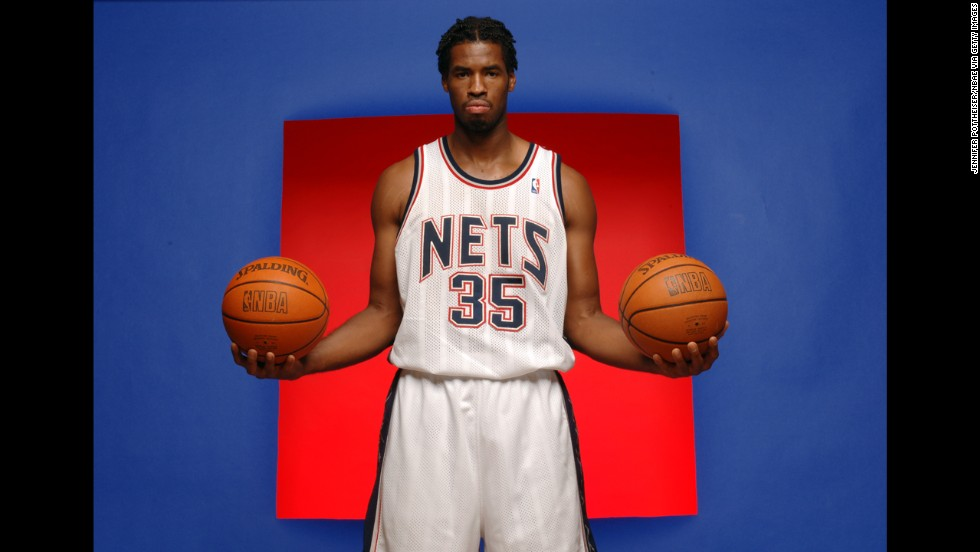 Collins poses for a portrait during Nets Media Day in 2005 at the team's training center in East Rutherford, New Jersey.