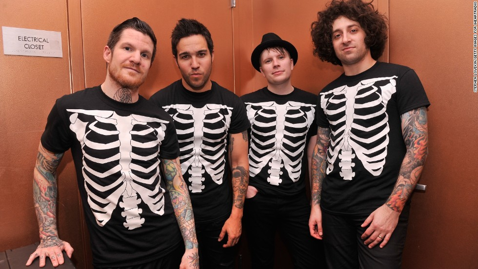 "Fall Out Boy -- Andy Hurley, Pete Wentz, Patrick Stump and Joe Trohman -- formed in the Chicago suburb of Wilmette, Illinois, in 2001. Influenced by the city's punk scene, they created a punkish pop music sound heard on their 2003 debut album ""Take This to Your Grave."" Grammy-nominated for Best New Artist in 2006, their next album, ""Infinity on High,"" topped the Billboard chart at No. 1. Their song ""This Ain't a Scene, It's an Arms Race"" peaked at No. 2 on the US Billboard Hot 100 chart in 2007."