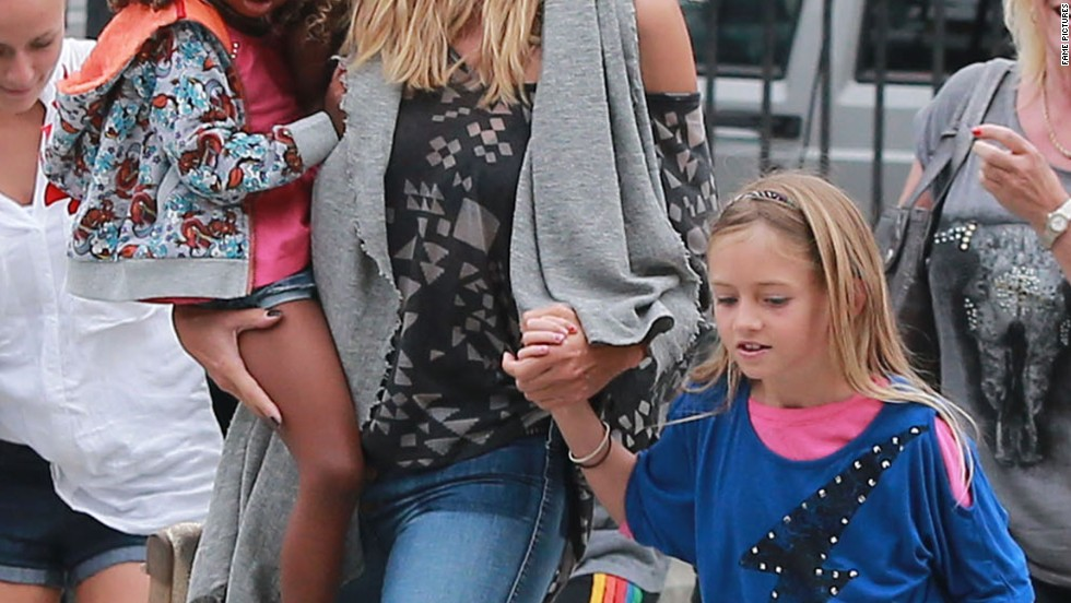 Heidi Klum spends time with her family in Santa Monica.