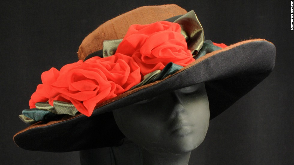 """""""My way of coping with difficult things is to create, and I decided that I had to create a hat to honor Barbaro. I wanted it to be about his conformation, colors and his victories, not this completely sad memorial,"""" Steinmann said. The red roses honor his incredible Derby win."""