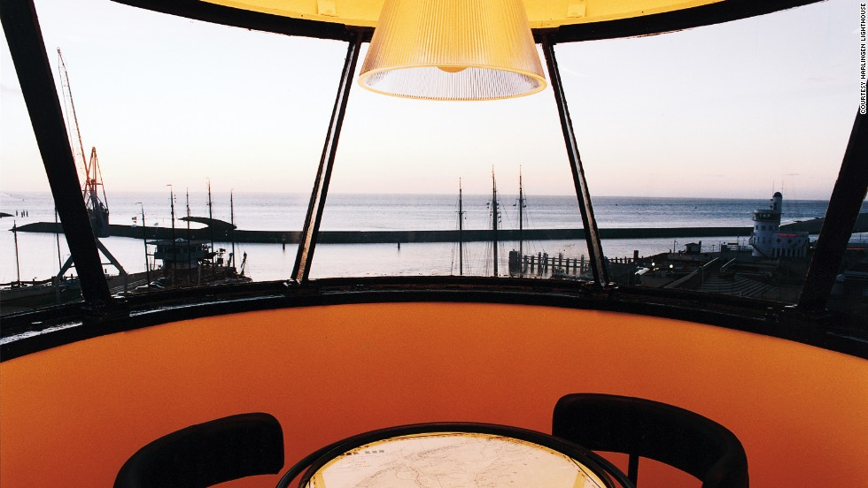 Closed in 1998, the historic lighthouse has now replaced its giant glass light with a table for two overlooking charming Harlingen Harbor.