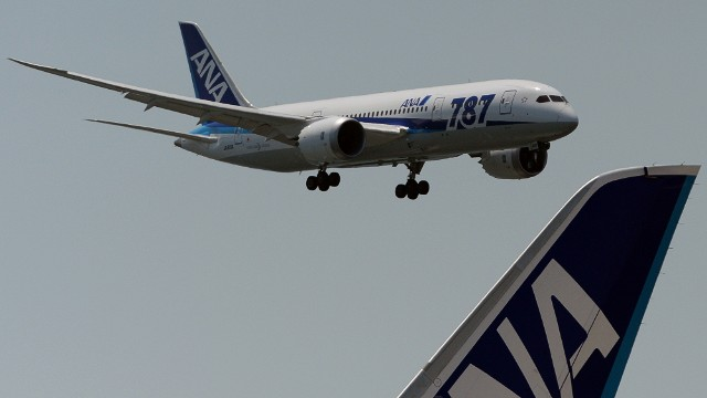 The first Dreamliner test flight in Japan was on Sunday.