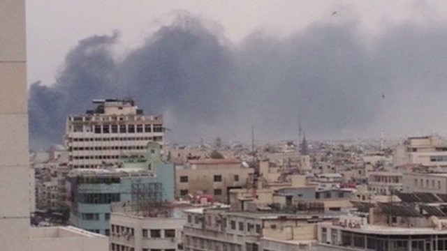 Central Damascus hit by bombs