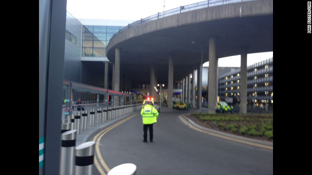 A controlled explosion was carried out at London's Gatwick Airport on a suspicious vehicle on Wednesday.