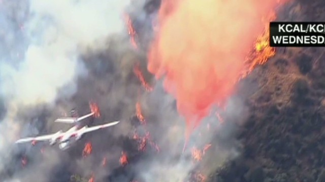 Extreme wildfires and snow in the U.S.