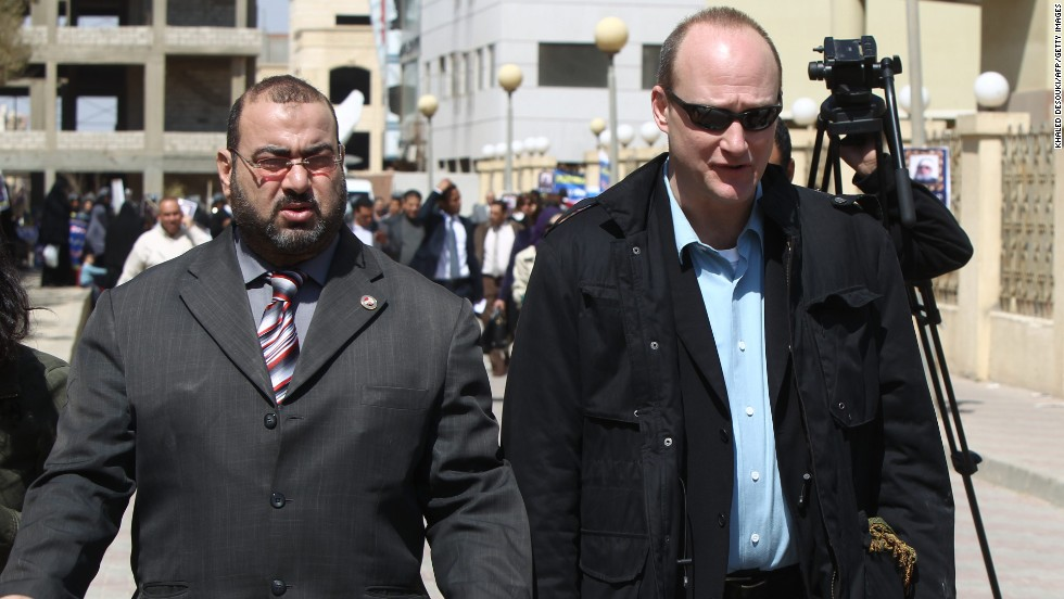 "Sixteen Americans were among the dozens arrested in December 2011 when Egypt raided the offices of 10 nongovernmental organizations that it said received illegal foreign financing and were operating without a public license. Many of the employees posted bail and left the country after a travel ban was lifted a few months later. Robert Becker, right, <a href=""http://www.cnn.com/2012/06/05/world/africa/egypt-ngos"">chose to stay</a> and stand trial. He spent two years in prison and has since returned to the United States."
