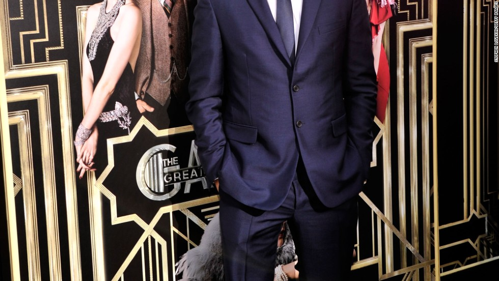 "Leonardo DiCaprio attends the ""The Great Gatsby"" premiere in New York City."