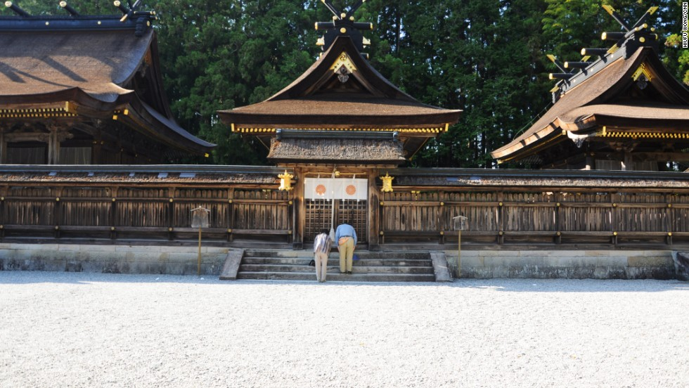 Relocated due to floods, Kumano Hongu Taisha was re-constructed based on the traditional architectural design of the original shrines.