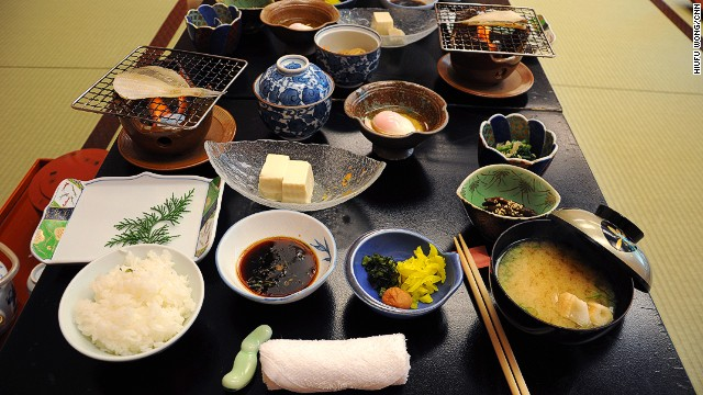 Just your average Wakayama breakfast at an onsen guesthouse.