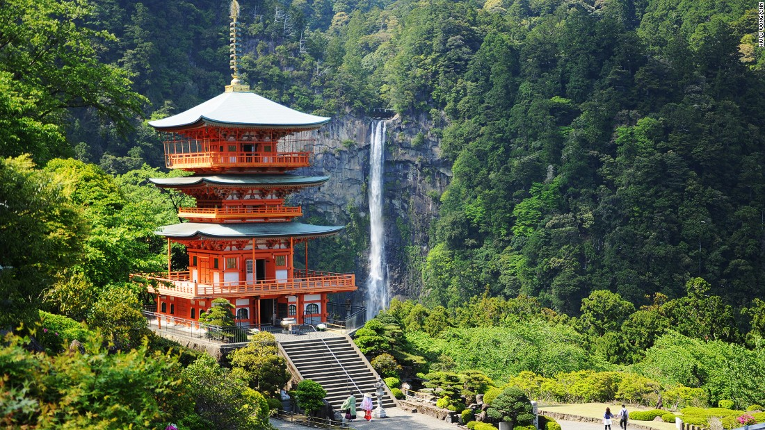 """Nachi Falls, at 133-meters high, is the biggest waterfall in Japan. <br />It steals some of the attention from Kumano Nachi Taishai, a sacred shrine built close by.<br />It's usually the last stop of the scenic pilgrimage known as Kumano Kodo. <br />Find out how to tackle <a href=""""http://edition.cnn.com/2013/05/06/travel/japan-kumano-kodo-hike/"""">Kumano Kodo, world's best unknown hike here</a>.<br /><em><a href=""""https://www.wakayama-kanko.or.jp/world/english/things/history/list01/detail011.html"""" target=""""_blank"""">Nachi Falls</em></a><em>, Nachikatsuura, Wakayama, Japan</em>"""