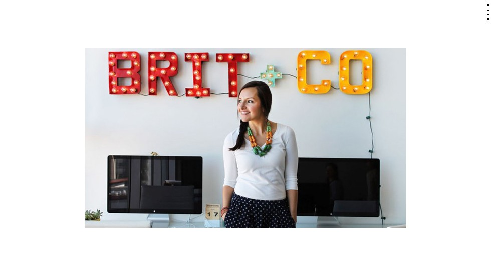 "Morin at the Brit + Co headquarters. The former Google employee found her footing when she was planning her wedding. In a situation where many people would have called a florist or caterer, she sought a programmer. Her personal app project grew into <a href=""http://weduary.com/"" target=""_blank"">Weduary</a>, a full-fledged app for wedding site design."