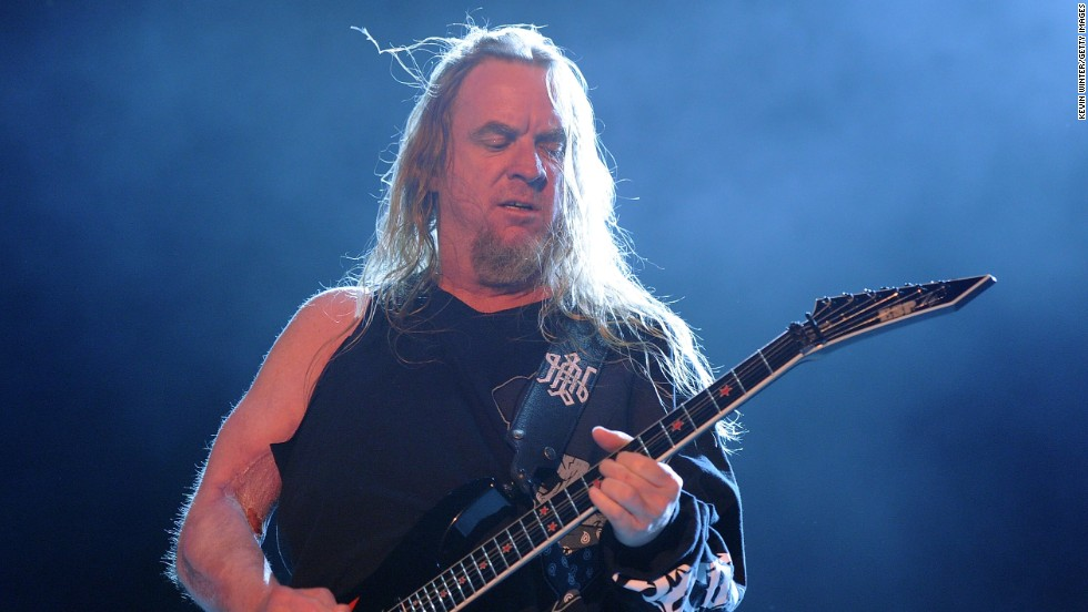 "Grammy-winning guitarist <a href=""http://www.cnn.com/2013/05/02/showbiz/california-jeff-hanneman-obit/index.html"">Jeff Hanneman</a>, a founding member of the heavy metal band Slayer, died on May 2 of liver failure. He was 49."