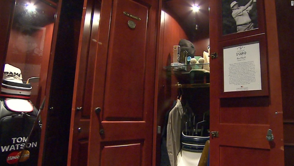 Floyd's locker in the Hall of Fame is situated next to fellow Ryder Cup star and golf legend Tom Watson.