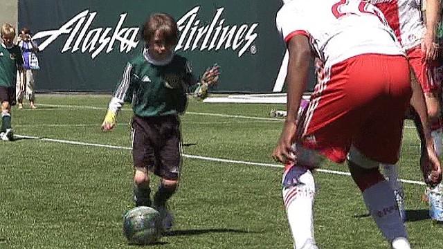 See boy, 8, defeat MLS team