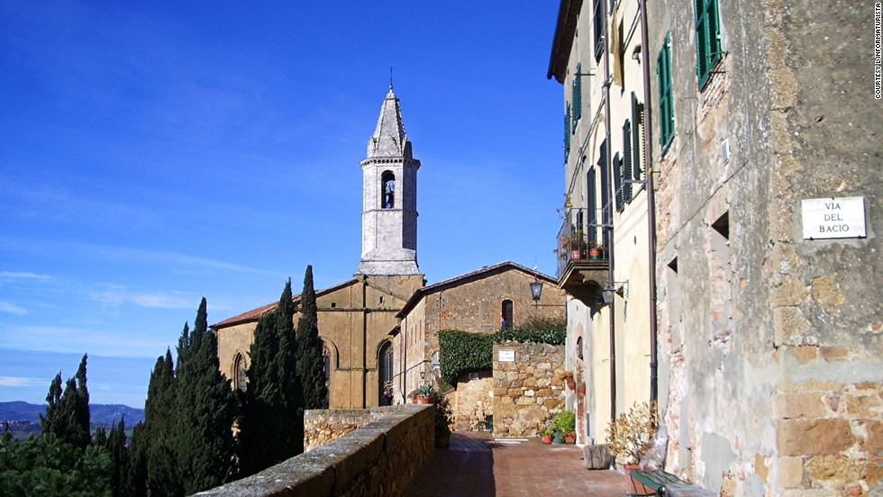 "Pienza is the perfect Renaissance city designed by native Pope Pio II. It's immaculate, and the streets have romantic names -- ""Love Street,"" ""Kiss Street"" -- echoing the concept of an ideal city. One of the best ways to see the area is on bicycle."