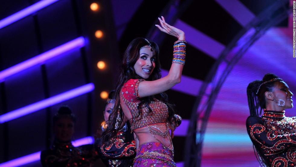 Bollywood actress Malaika Arora Khan performs during the Women's Prerna Awards in Mumbai on April 9. The event honored the spirit and perseverance of women who have achieved success against all odds.