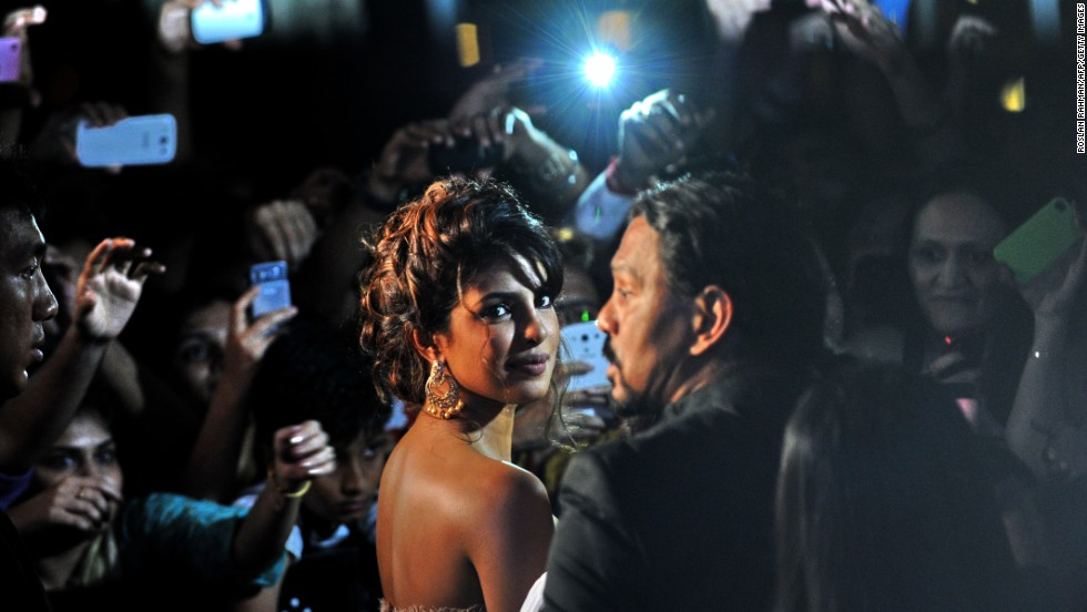 Actress Priyanka Chopra arrives at the International Indian Film Academy Awards in Singapore on June 9, 2012.