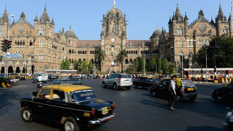 First called Victoria Terminus after Queen Victoria, Chhatrapati Shivaji Terminus in Mumbai, India, is still known as one of the world's great Victorian Gothic Revival buildings.