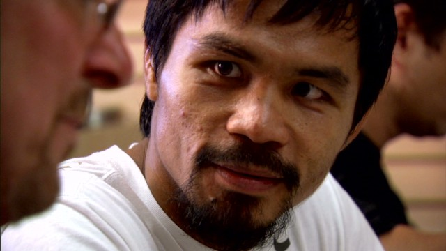 "Manny Pacquiao from the CNN documentary ""The Fighters."""