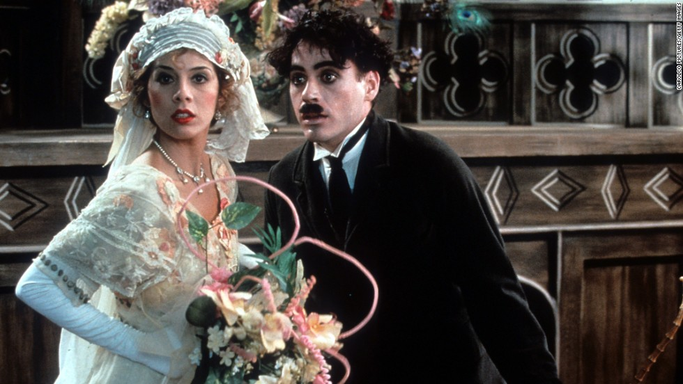 """The actor's 1992 role as Charlie Chaplin in the film """"Chaplin,"""" in which he starred with Marisa Tomei, earned him a Best Actor Oscar nomination."""