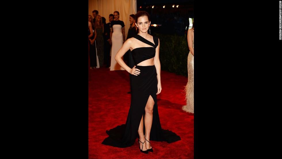 Emma Watson attends the gala.