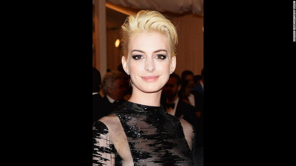 Anne Hathaway attends the gala.