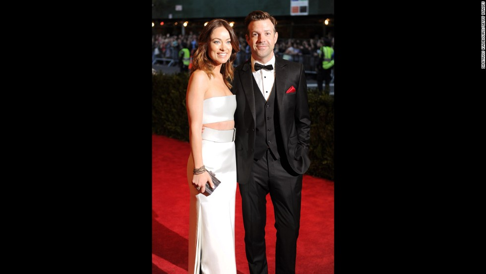 Actors Olivia Wilde and Jason Sudeikis attend the gala.