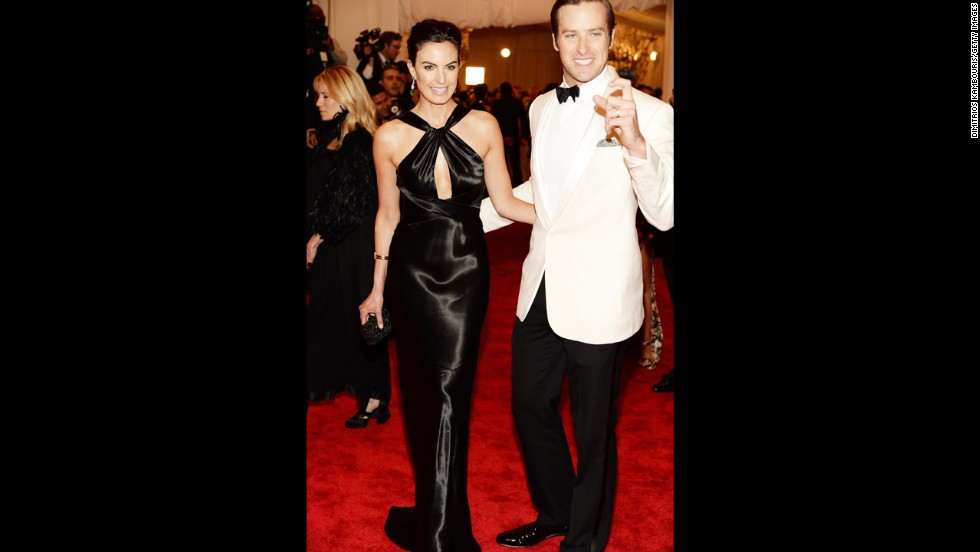 Elizabeth Chambers and Armie Hammer attend the gala.