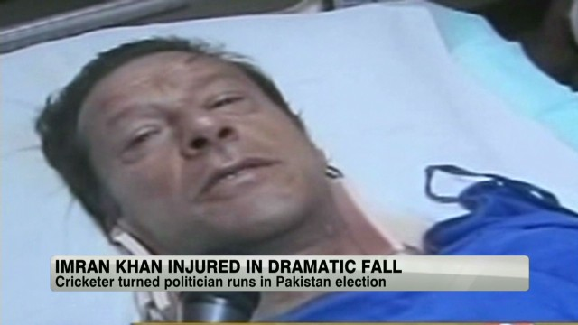 Imran Khan injured in dramatic fall