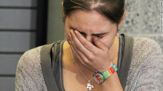Amanda Knox makes her first appearance in the US, October 4, 2011, after arriving in Seattle following her release from prison in Italy.