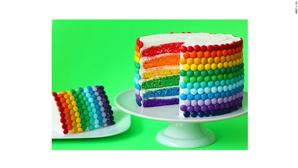 "The site includes all kinds of how-to instructions for edible projects, such as this <a href=""http://www.brit.co/rainbow-cake/"" target=""_blank"">Double Rainbow Cake</a> that is similar to a <a href=""http://www.marthastewart.com/256688/rainbow-cake"" target=""_blank"">Martha Stewart-featured cake</a> by blogger Kaitlin Flannery."