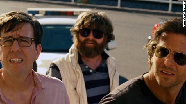 Ed Helms, Zach Galifianakis and Bradley Cooper in Warner Bros. Pictures' The Hangover Part III